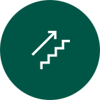 Going up icon with arrow